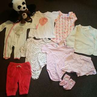 Nb - 3 months girls clothes
