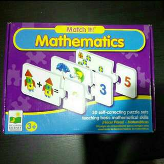 Preloved The Learning Journey Match It! Mathematics 30 Puzzle Sets