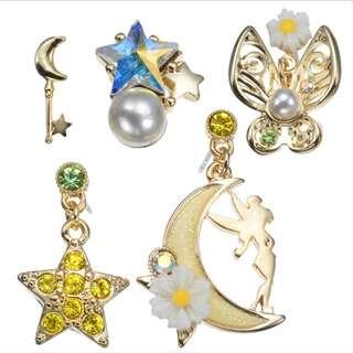 🇯🇵日本代購 迪士尼 Disney 小叮噹 Tinker Bell 耳環set