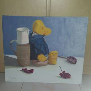 Canvas Painting - Lonely Bear