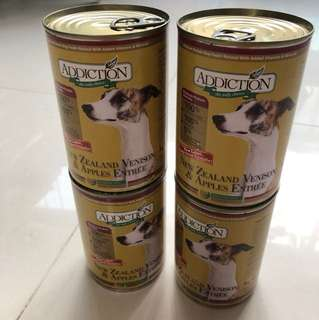 Addiction NZ Venison & Apples Dog canned (4 Cans)