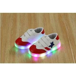 Shoes run bintang candy led (21-30)