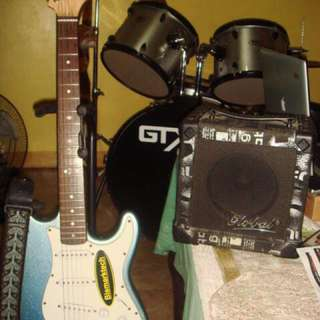 Electric guitar with ampli and effects