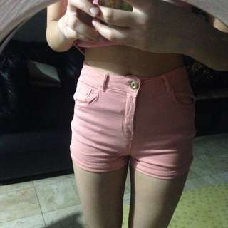 BERSHKA hw shorts size 24 (stretchable)