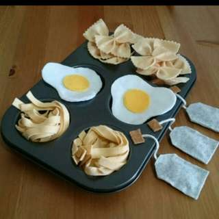 BN Egg Pasta & Tea Set Felt Food
