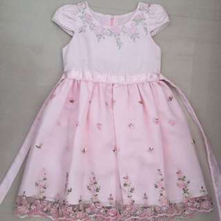 Pink Lacy Flower Girl Dress