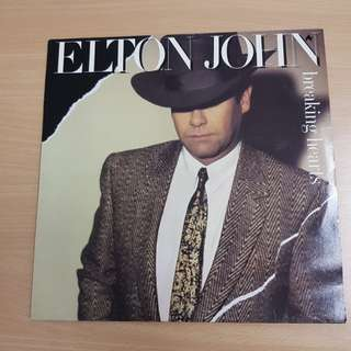 Elton John Breaking Hearts Vinyl LP Original Pressing Rare
