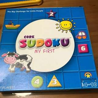 Growing Fun Sudoku Toddler Educational Toy Board Game