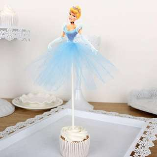 Cinderella Cake Cupcake Topper Party Decoration Birthday Party Disney Princess