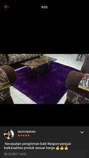 Karpet bludru(bulu) uk besar 200m×120×3cm