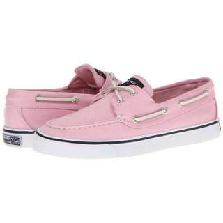 Sperry Top Sider Bahama Light Rose Pink Canvas Boat Shoes