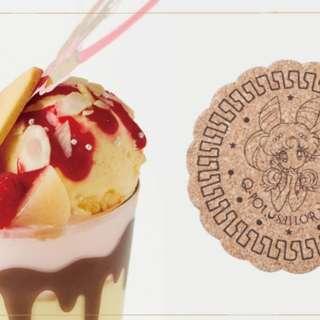 Q-pot × Sailor moon coasters