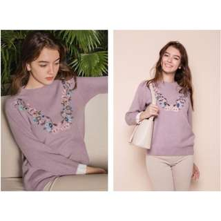 BN Embroider Pastels Knit Sweater - FREE Size
