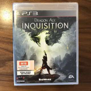 Brand New PS3 Game Dragon Age Inquisition