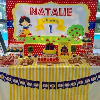 Happy Birthday Banner - Princess theme