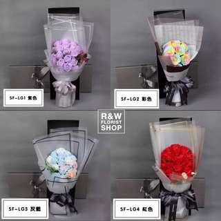 韓國香皂玫瑰花束禮盒
