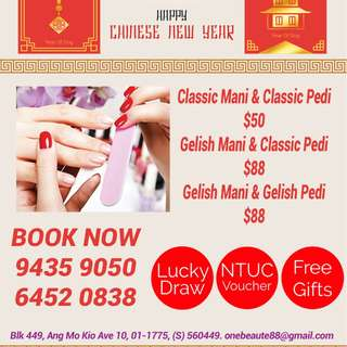 Chinese New Year Promotion!!! Manicure Pedicure Package at Ang Mo Kio