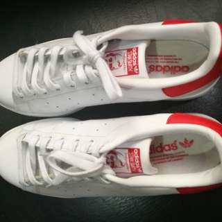 Adidas stan smith red/white