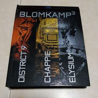 Blomkamp Bluray Trilogy Collection | District 9 | Chappie | Elysium | Digibook