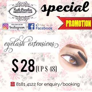 Eyelash Extension Special Promotion!