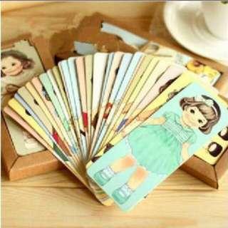 Retro Doll Bookmarks - 30pcs