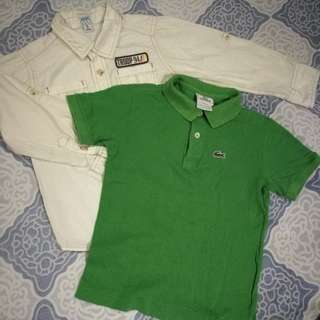 Original Lacoste and Old Navy Shirt for Kids