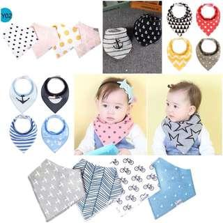 [Ready stock] Stylish Baby Bib/ Triangle Bib/ Bandana Bib/ Drool Bib
