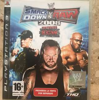 Smack Down Vs Raw PS3 Game