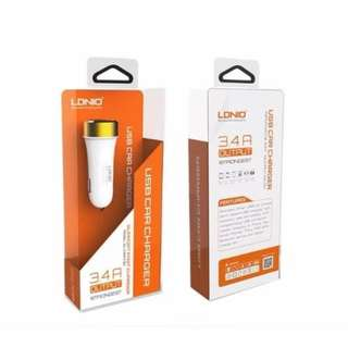 LDNIO USB Car Charger 3.4A Output DL-C30 (White)