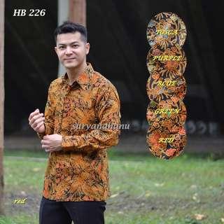 Kemeja Batik Pria - Merah & Biru (Code: PSO226A)