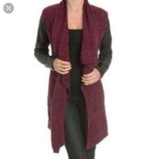 Burgundy Knit Cardigan