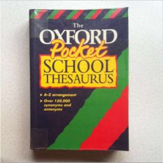 School Thesaurus Pocket Dictionary
