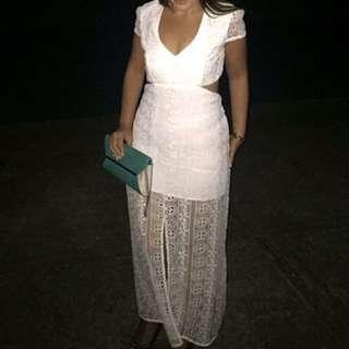 Bardot size 12 lace cut out dress