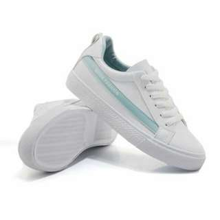 white sneaker leather rubber shoes