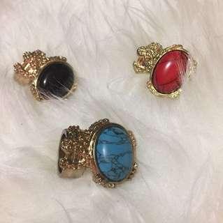 YSL inspired gold rings