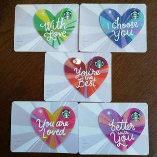 starbucks valentine gift card 1 set