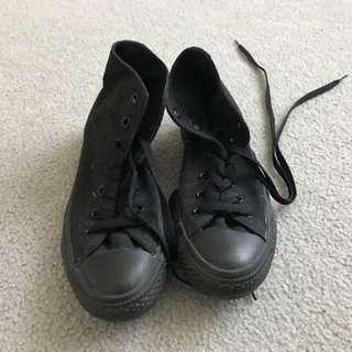 All black converse high tops