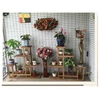 Carbonized cedarwood Plant stand