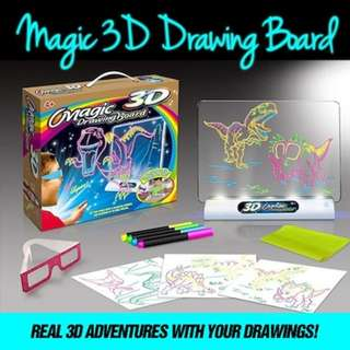 [Free Registered Mail] 3D Children Magic Drawing Board