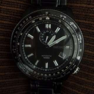 Seiko Watch Model 4R37A(Black)