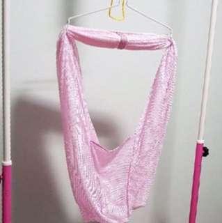 Baby pink manual cradle
