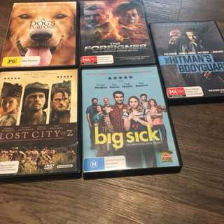 NEW DVDS for sale
