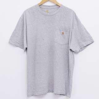 Size L CARHARTT Pocket Tee Sports Grey