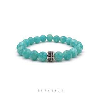 Amazonite Classic Bracelet 5A 天河石經典手鍊