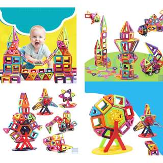 Magnetic Building Blocks (108 Pure Magnetic Pieces)