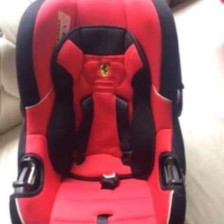 法國 FERRARI 法拉利 紅色兒安全座椅