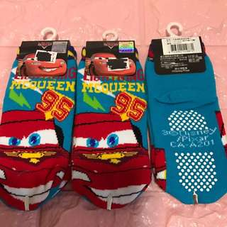Instock mc Queen anti slip sock brand new 3 sets only size 12-14cm for 2-4yrs old