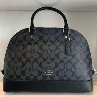 Authentic 💯 COACH Signature Sierra Satchel- Black