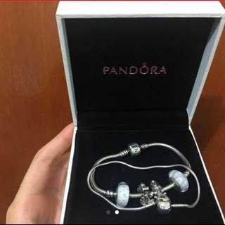 兩條 Pandora essence classic bracelet 18cm