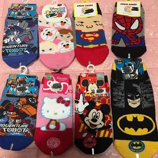Instock kids socks limited Stock and no more restock!! Size from 12-26cm .. all normal socks except for Mickey design got anti slip.. but 3 for $24